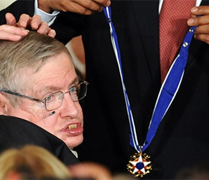 Hawking has been awarded many time through the years.
