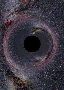 Black-body radiation that is predicted to be released by black holes